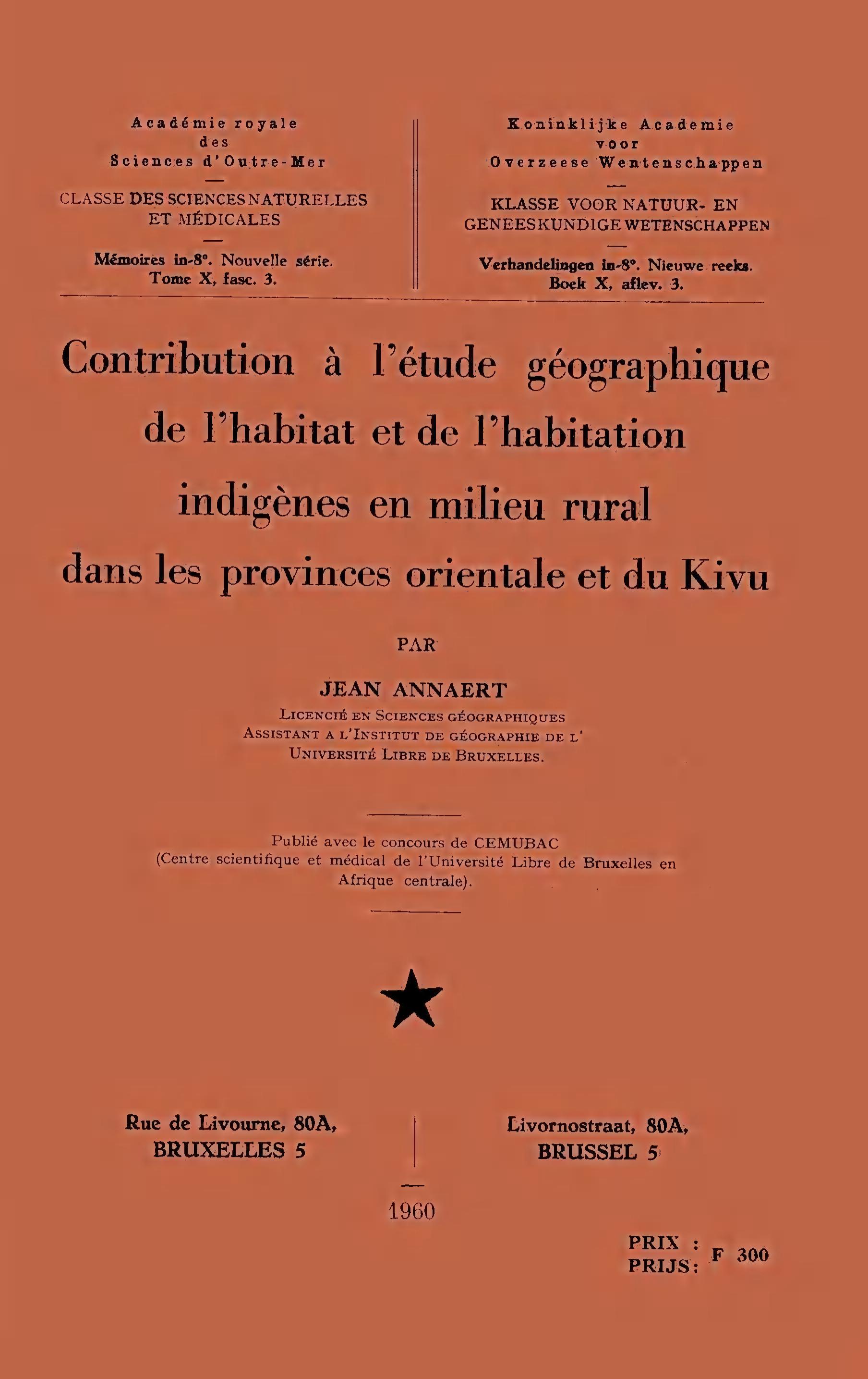 Nat sc ns annaert j contribution l 39 tude for Habitat rural en algerie pdf