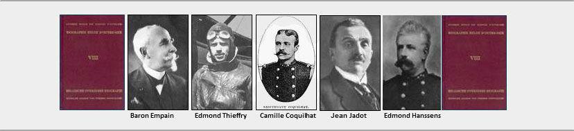 Baron Empain, Edmond Thieffry, Camille Coquilhat, Jean Jadot, Edmond Hanssens