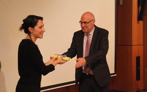 Overhandiging Prijzen Marthe Engelborghs-Bertelsprijs voor Sinologie - Attribution des prix: Prix Marthe Engelborghs-Bertels de Sinologie. © RAOS