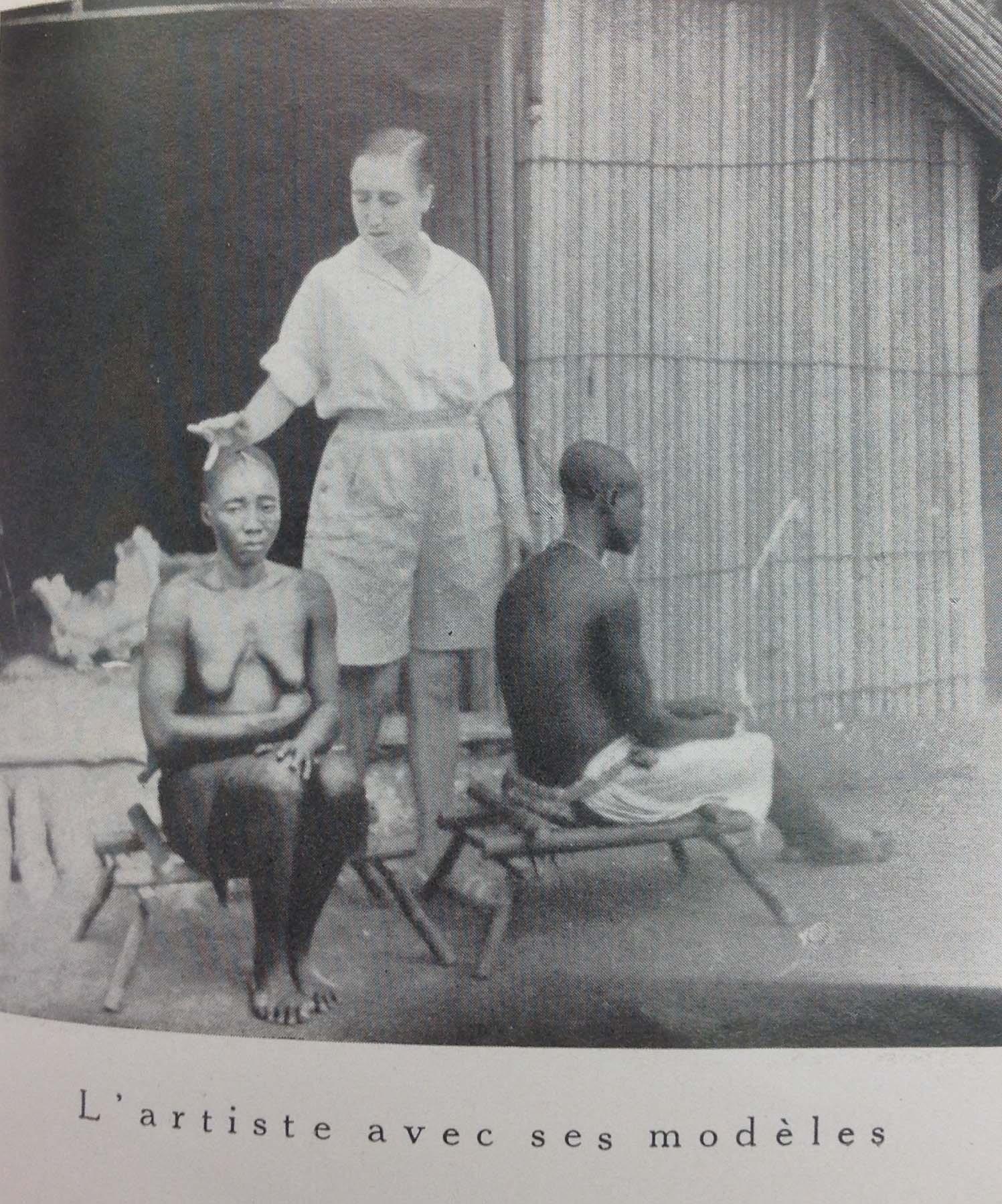 Photos extraites de : Garnier (Jean), Le sculpteur Jane Tercafs, Bruxelles, Éditions de la Phalange, 1938.