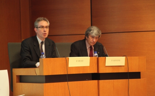 Pierre Petit, president of the Academy -Onthaal/Accueil- Academic opening session 27/10/2016 © RAOS